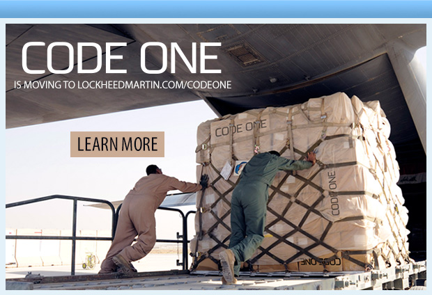 Code One is moving to lockheedmartin.com/codeone