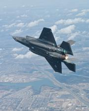 F-35A AF-4 First Flight Aerial