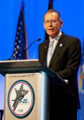 Robert J. Stevens, Lockheed Martin's chairman and CEO noted at the final F-22 delivery ceremony that the F-22 program had its share of challenges over the thirty years since the first study contracts for the Advanced Tactical Fighter were awarded. But, he added that the F-22 had overcome those challenges to create new standards in aviation and global security.