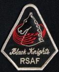 The Republic of Singapore Air Force's team was renamed the Black Knights in 1974. The knight was chosen as it is the most maneuverable piece in the game of chess. The knight is also on the mascot of Tengah AB, which is now home of the Black Knights.