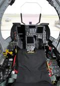 The F-2 is the first fighter aircraft in JASDF that adopted a glass cockpit. The F-2 cockpit has three full color multifunction displays showing radar, weapon information, terrain map, and electronic warfare information. The control stick is on the side of cockpit as in the F-16, F-22, and F-35.