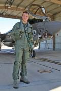 Wing. Cmdr. Jim Beck, the first officer to command a UK F-35 squadron, leads the Black Knights.