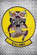 The 61st FS and its associated 61st Aircraft Maintenance Unit formally stood up in October 2013. The unit's mascot is the Top Dog.