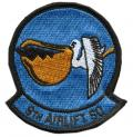 Squadron patch for the 9th Airlift Squadron at Dover. The Proud Pelicans provide worldwide airlift to meet Department of  Defense, Department of State and Presidential mobility requirements.