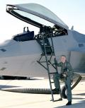 23 November 1998: Air Force pilot Lt. Col. David Nelson pushes the F-22 during a 3.1-hour mission to the 183-flight-hour mark mandated by the US Congress before Congress will release funds needed for long lead items for the first six Lot 1 production F-22s.