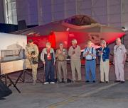 <p>Lockheed Martin dedicated an F-35 Lightning II hangar  in Fort Worth, Texas, to the P-38 Lightning and the people who built,  flew, and maintained it. WWII veterans from the 49th Fighter  Squadron Association attended the ceremony on 4 October 2013.</p>
