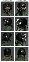 F-35 helmet-mounted display versions compairisons.