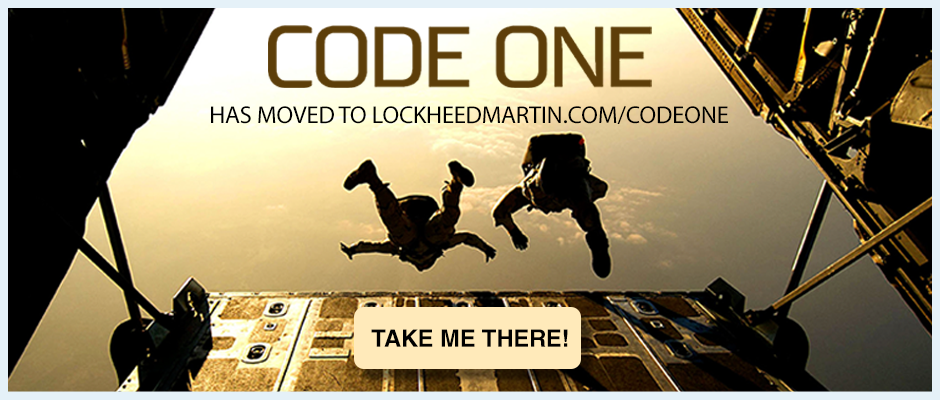 Code One has moved to lockheedmartin.com/codeone
